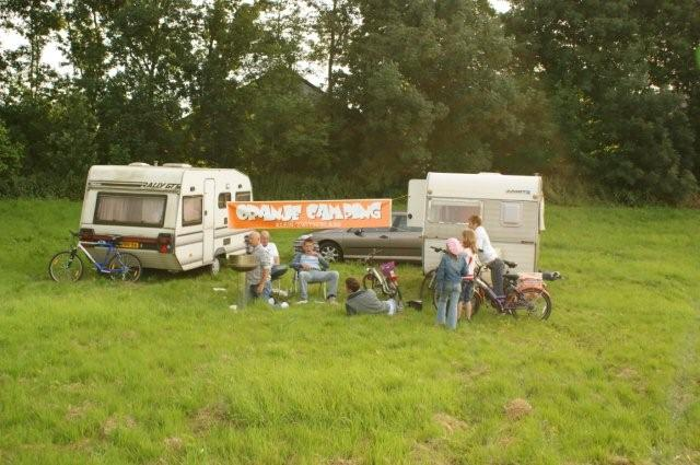 Oranje camping in Biddinghuizen